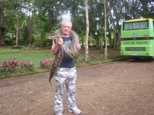 Ian Handling a Snake